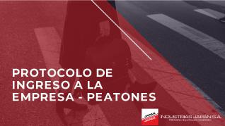 INDUSTRIAS JAPAN S.A.   Protocolo de ingreso a la empresa - peatones